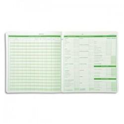 EXACOMPTA Piqûre budget dépenses ménagères 25 x 27 cm 56 pages