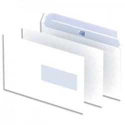 OXFORD Boîte de 500 enveloppes blanches auto-adhésives 90g format C5 162x229 mm avec fenêtre 45x100 mm