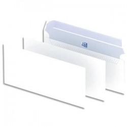 OXFORD Boîte de 500 enveloppes blanches auto-adhésives 90g format DL 110x220 mm
