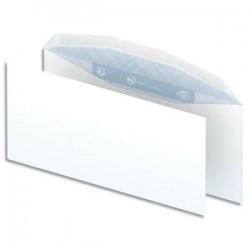 NEUTRE Boîte de 1000 enveloppes blanches gommées 80g pour mise sous pli automatique format DL2 114X229 mm
