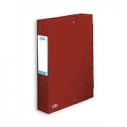 ELBA Boîte de classement BOSTON à élastiques en carte lustrée 7/10e, 600g. Dos 6 cm. Coloris rouge