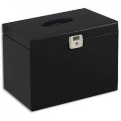 PIERRE HENRY Valise de classement en métal. Livrée avec 5 dossiers. Dim: 36,5x28x22 cm. Coloris noir