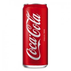 COCA COLA Canette Slim de boisson gazeuse pétillante de 33 cl
