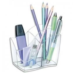 CEP Multipot Ellypse 4 compartiments, Dimensions L8,9 x H9,8 x P11,8 cm, coloris Cristal