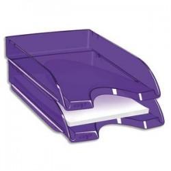 CEP Corbeille à courrier Happy ultra violet transparent. Dimensions : L34,5 x H6,4 x P26 cm
