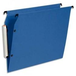 ESSELTE Paquet de 10 dossiers suspendus LMG ARMOIRE en polypro opaque. Fond V, bouton-pression. Bleu