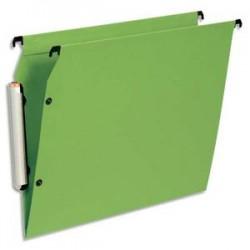 ESSELTE Paquet de 10 dossiers suspendus LMG ARMOIRE en polypro opaque. Fond V, bouton-pression. Vert