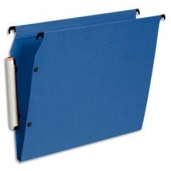 ESSELTE Paquet de 10 dossiers suspendus LMG ARMOIRE en polypro opaque. Fond 15, bouton-pression. Bleu