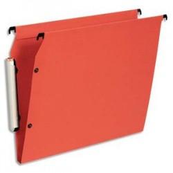 ESSELTE Paquet de 10 dossiers suspendus LMG ARMOIRE en polypro opaque. Fond 15, bouton-pression. Orange