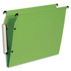 ESSELTE Paquet de 10 dossiers suspendus LMG ARMOIRE en polypro opaque. Fond 15, bouton-pression. Vert