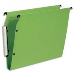 ESSELTE Paquet de 10 dossiers suspendus LMG ARMOIRE en polypro opaque. Fond 30, bouton-pression. Vert