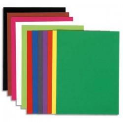 EXACOMPTA Paquet de 100 chemises Flash 220 teintes vives intenses assortis, format 320x240