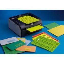 Boîte de 100 Etiquettes adhésives couleur Vert - Format : 210 x 97 mm. Planche A4