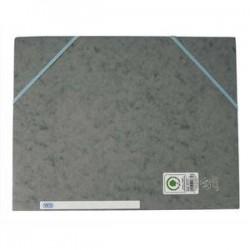 ELBA Chemise A4 carte lustrée TOP File 3 rabats à élastique gris