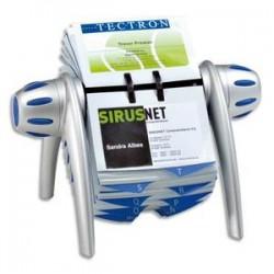 DURABLE Fichier rotatif pour cartes de visite visifix flip gris bleu