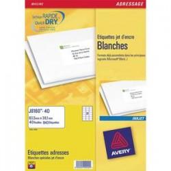 AVERY Boîte de 450 étiquettes adresses jet d encre 63,5x46,6mm blanches J8161-25