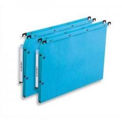 OBLIQUE AZ Boîte de 25 dossiers suspendus ARMOIRE en kraft 240g. Fond 15, bouton-pression. Bleu