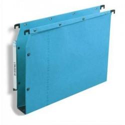 OBLIQUE AZ Boîte de 25 dossiers suspendus ARMOIRE en kraft 240g. Fond 50, bouton-pression. Bleu
