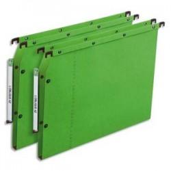 OBLIQUE AZ Boîte de 25 dossiers suspendus ARMOIRE en kraft 240g. Fond 30, bouton-pression. Vert