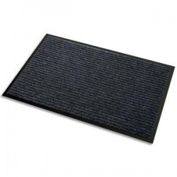 3M Tapis d'accueil Aqua Nomad 45 noir double fibre gratante - Format : 90 x 60 cm épaisseur 5,6 mm 45001
