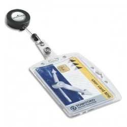 DURABLE B/10 Portes-badge avec enrouleur pour 1 carte de sécurité