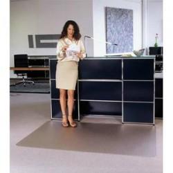 FLOORTEX Tapis antidérapant en polycarbonate pour sol dur 120 x 134 cm