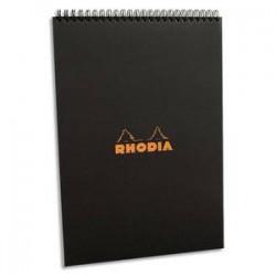 RHODIA Bloc de direction couverture reliure intégrale en-tête noire 80 feuilles format A4 réglure 5x5