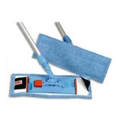 RUBBERMAID Frange microfibre bleu pour support BU400 utilisation à sec - Format : L40 x P10 cm