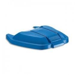 RUBBERMAID Couvercle bleu pour conteneur à roues capacité 100 Litres - Dim. : L51,5 x H8 x P56 cm