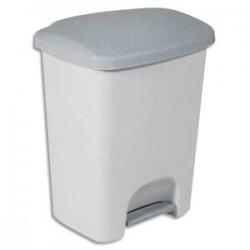 RUBBERMAID Collecteur Luna à pédale gris, capacité 25 Litres en plastique - Dim. L36,5 x H46,2 x P29,5 cm