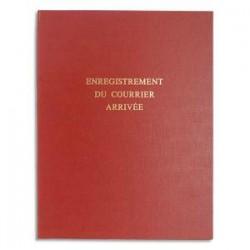 LE DAUPHIN Piqure pour enregistrement du courrier arrivée 80 pages couverture rouge en 24x32cm