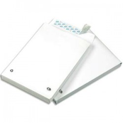 GPV paquet de 50 pochettes kraft blanc auto-adhésif, format 24 260x330mm soufflet 30mm120g