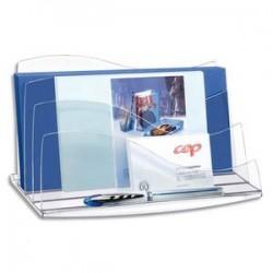 CEP Trieur à enveloppes cristal Ellypse, Dimensions : L22,5 x H12,7 x P13 cm