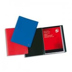 5 ETOILES Protège-documents en polypropylène 20 vues bleu , couverture 3/10e, pochettes 6/100e