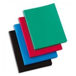 5 ETOILES Protège-documents en polypropylène 80 vues rouge , couverture 3/10e, pochettes 6/100e