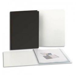 5 ETOILES Protege documents personnalisable en polypropylene noir 60 vues