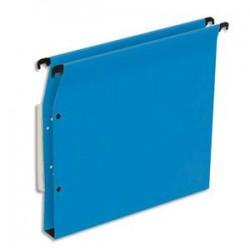 NEUTRE Boîte de 25 dossiers suspendus ARMOIRE en kraft 220g. Fond 30mm, volet agrafage + pression. Bleu