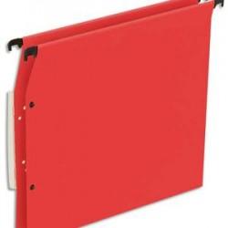 NEUTRE Boîte de 25 dossiers suspendus ARMOIRE en kraft 220g. Fond 30mm, volet agrafage + pression. Rouge