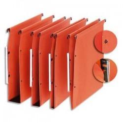 5 ETOILES Boîte de 25 dossiers suspendus ARMOIRE en kraft 220g. Fond 15, volet agrafage +pression. Orange
