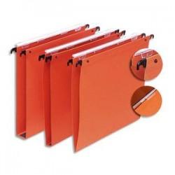5 ETOILES Boîte de 25 dossiers suspendus TIROIR en kraft 220g. Fond 30, volet agrafage + pression. Orange