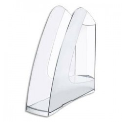 5 ETOILES Porte-revues en polystyrène pour format A4 - Dimensions : L25,7 x H26 x P7,5 cm coloris cristal