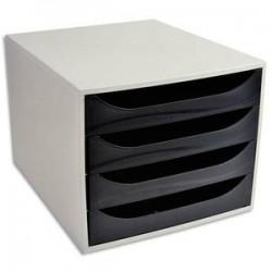 5 ETOILES Module de classement ECO gris et 4 tiroirs noirs - Polystyrène Dim. : L28,4 x H23,4 x P34,8 cm