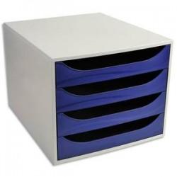 5 ETOILES Module de classement ECO gris et 4 tiroirs bleus - Polystyrène Dim. : L28,4 x H23,4 x P34,8 cm