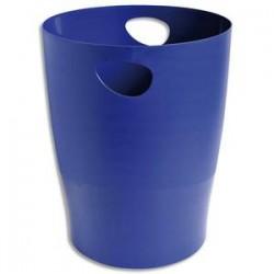 5 ETOILES Corbeille à papier 15L bleu - Polystyrène - Diamètre 26 cm, hauteur 33,5cm
