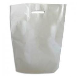 EMBALLAGE Paquet de 1000 Sacs en plastique blanc 50 microns - Dimensions : L35 x H45 x P5 cm