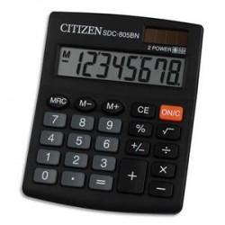 CITIZEN Calculatrice semi-bureau 8 chiffres SDC805BN 7242190