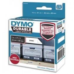 DYM P/100 ETIQ DUR 25X89MM N/BLC1976200