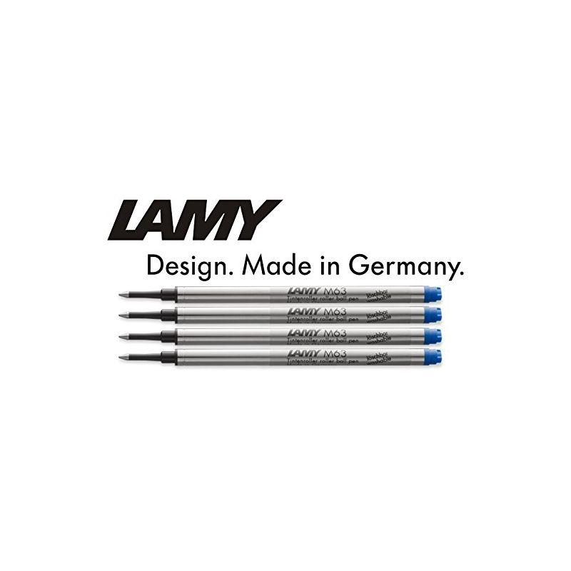 Lot de 4 recharge M63 Lamy bleu