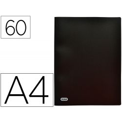 Protège-documents elba stand up a4 couverture polypropylène 60 pochettes 120 vues coloris noir