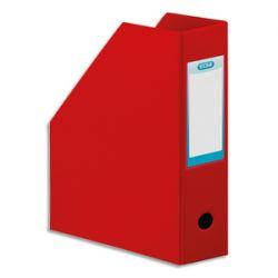 OXFORD Porte-revues en PVC soudé, dos de 10 cm 32x24cm, livré à plat. Coloris rouge